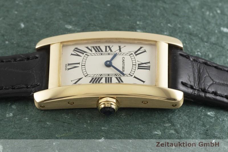 gebrauchte Luxusuhr Cartier Tank Américaine 18k Gold Quarz Kal. 157.06 Ref. 1710  | 2001300 _0
