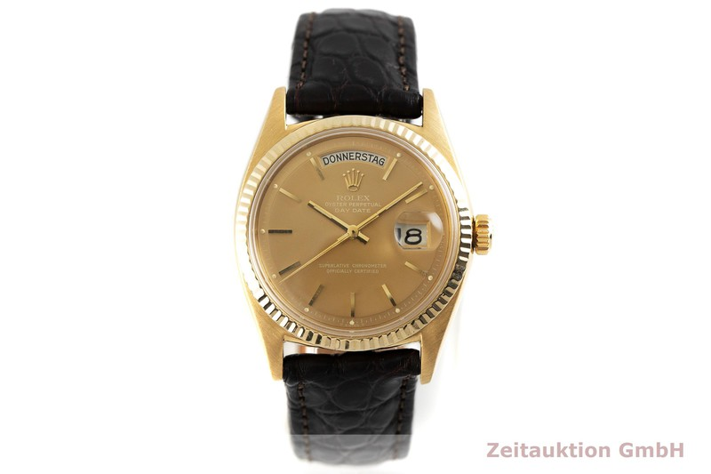 gebrauchte Luxusuhr Rolex Day-Date 18k Gold Automatik Kal. 1556 Ref. 6611B  | 2001370 _1