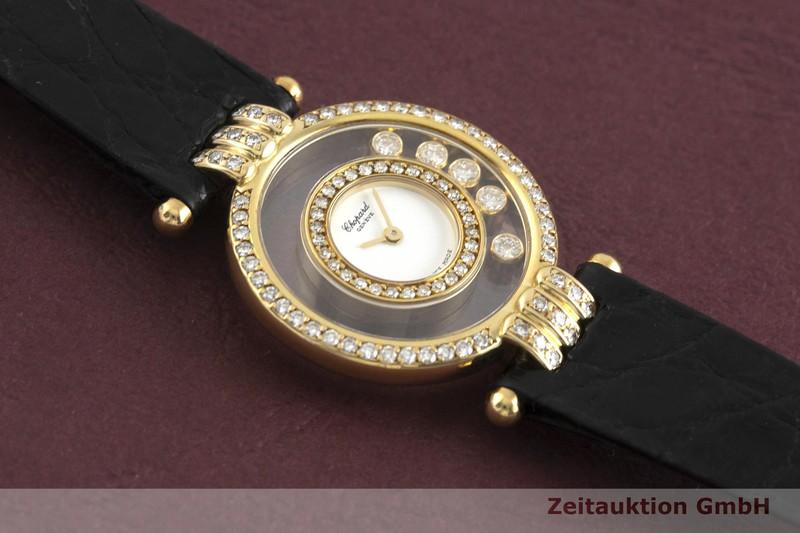 gebrauchte Luxusuhr Chopard Happy Diamonds 18k Gold Quarz Kal. ETA 201.001 Ref. 20/5605  | 2001408 _1