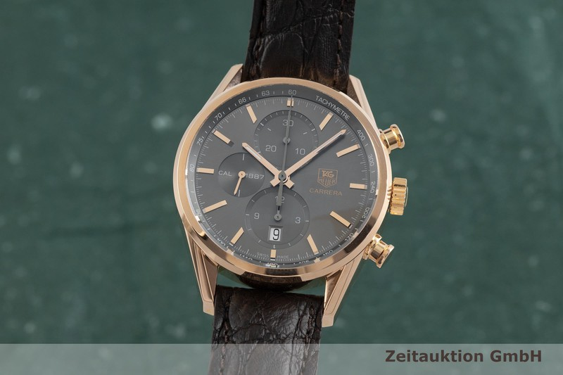 gebrauchte Luxusuhr Tag Heuer Carrera Chronograph 18k Rotgold Automatik Kal. 1887 Ref. CAR2141  | 2001412 _0