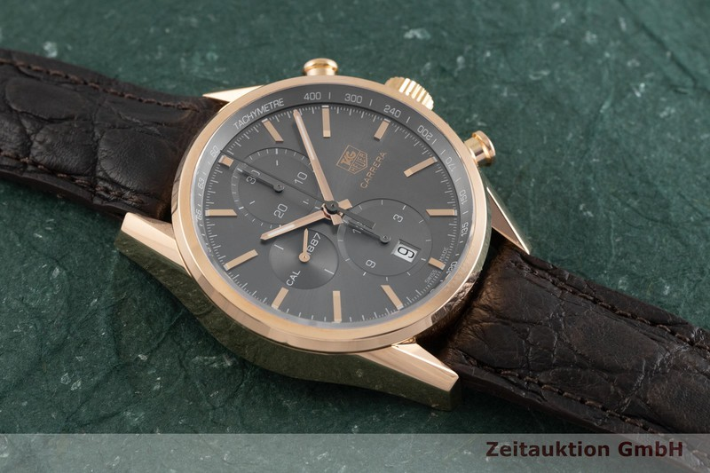 gebrauchte Luxusuhr Tag Heuer Carrera Chronograph 18k Rotgold Automatik Kal. 1887 Ref. CAR2141  | 2001412 _1