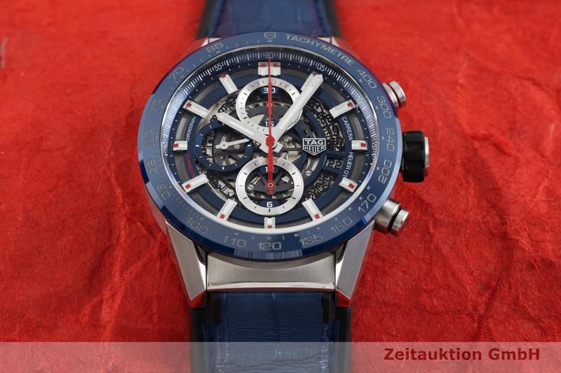 gebrauchte Luxusuhr Tag Heuer Carrera Chronograph Keramik / Stahl Automatik Kal. 01 Ref. CAR201T-0  | 2001435 _1