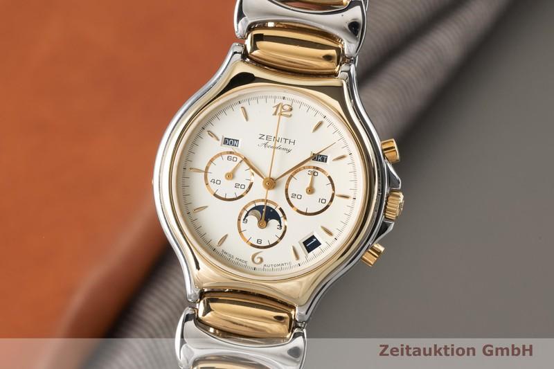 gebrauchte Luxusuhr Zenith Academy Chronograph Stahl vergoldet Automatik Kal. 410 Ref. 59.6000.410  | 2001465 _0