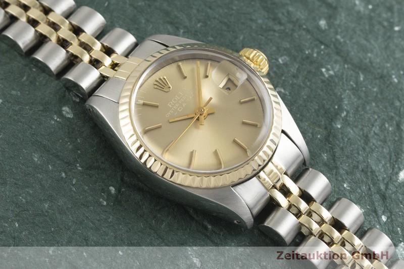 gebrauchte Luxusuhr Rolex Date Stahl / Gold Automatik Kal. 2030 Ref. 6917    2001473 _1