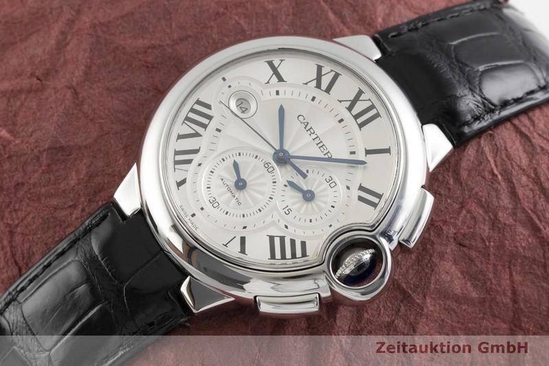 gebrauchte Luxusuhr Cartier Ballon Bleu de Cartier Chronograph Stahl Automatik Kal. 8101 Ref. 3109  | 2001479 _0