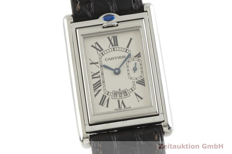 gebrauchte Luxusuhr Cartier Basculante Stahl Quarz Kal. 012N Ref. 2522  | 2001502 _0