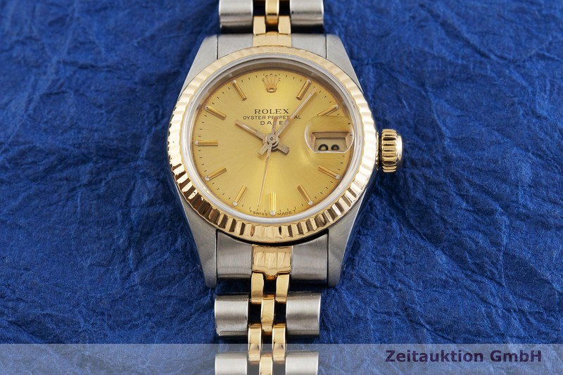 gebrauchte Luxusuhr Rolex Date Stahl / Gold Automatik Kal. 2135 Ref. 69173    2001610 _1