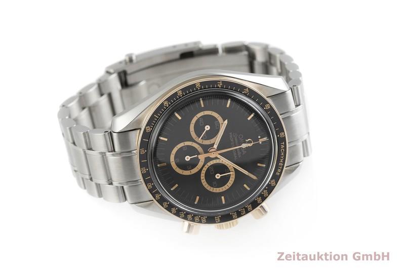 gebrauchte Luxusuhr Omega Speedmaster Moonwatch Chronograph Stahl / Gold Handaufzug Kal. 1861 Ref. 145.0300, 3366.51.00 LIMITED EDITION   2001614 _0