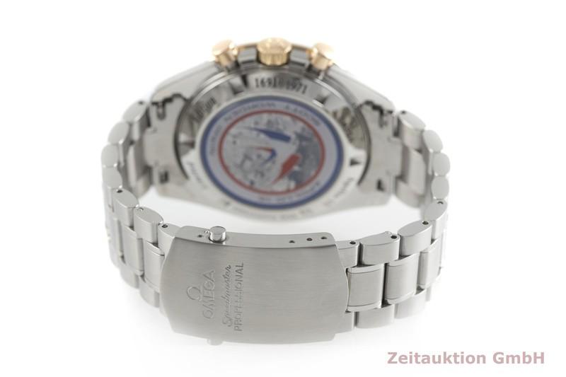 gebrauchte Luxusuhr Omega Speedmaster Moonwatch Chronograph Stahl / Gold Handaufzug Kal. 1861 Ref. 145.0300, 3366.51.00 LIMITED EDITION   2001614 _1