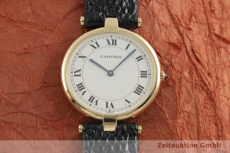 gebrauchte Luxusuhr Cartier Vendome 18k Gold Quarz Kal. 81 Ref. 881001  | 2001643 _1