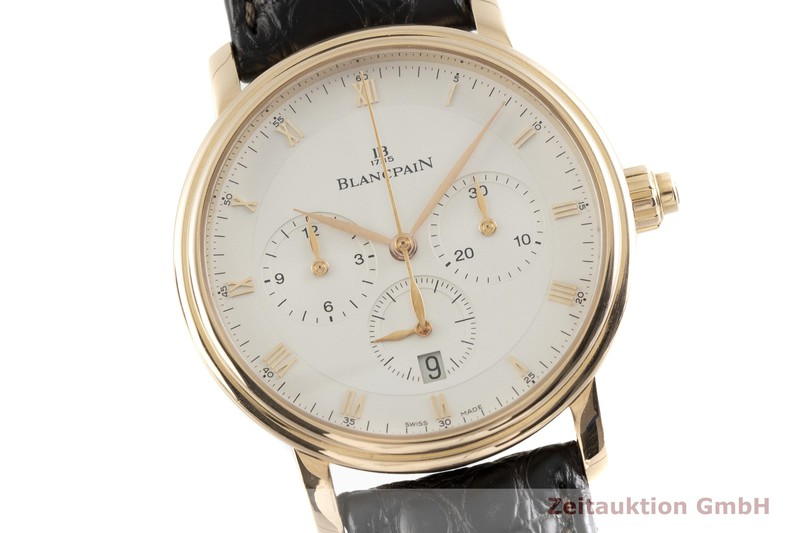 gebrauchte Luxusuhr Blancpain Villeret Chronograph 18k Rotgold Automatik Kal. M185 Ref. 6185-3642-55    2001653 _0