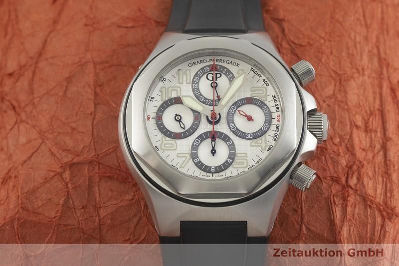 gebrauchte Luxusuhr Girard Perregaux Laureato Chronograph Stahl Automatik Kal. 33CO.AO Ref. 80180C  | 2001665 _1
