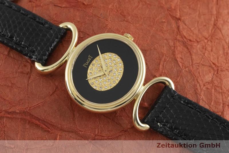 gebrauchte Luxusuhr Piaget * 18k Gold Handaufzug Kal. 9P2 Ref. 9802D VINTAGE  | 2001692 _1