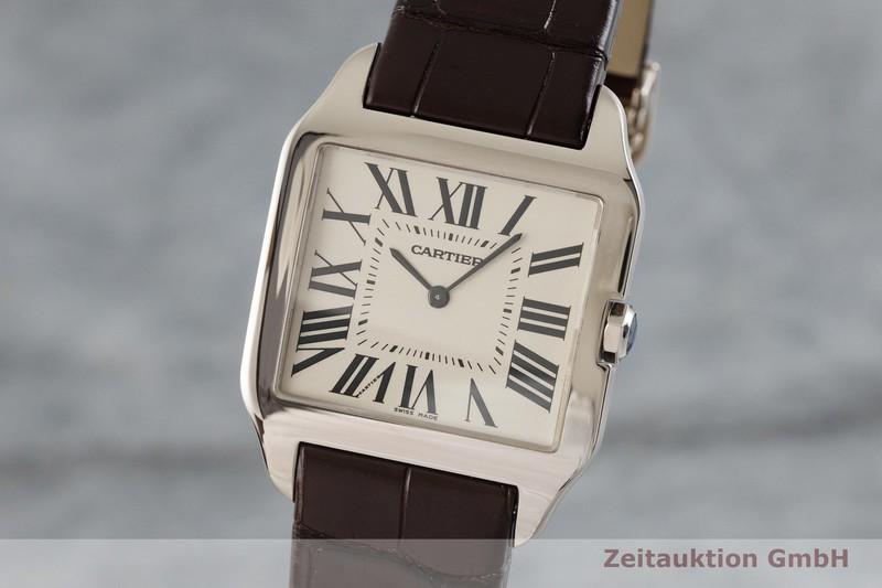 gebrauchte Luxusuhr Cartier Santos Dumont 18k Weissgold Handaufzug Kal. 430 Ref. 2651  | 2001767 _0