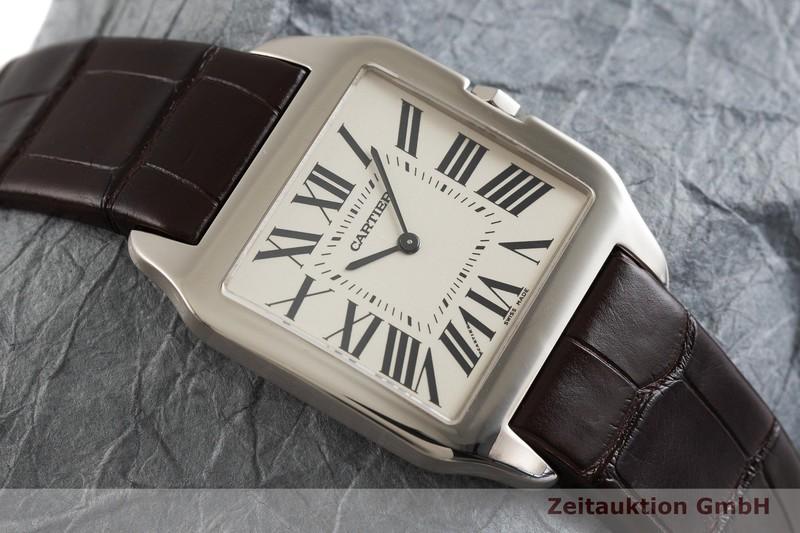 gebrauchte Luxusuhr Cartier Santos Dumont 18k Weissgold Handaufzug Kal. 430 Ref. 2651  | 2001767 _1