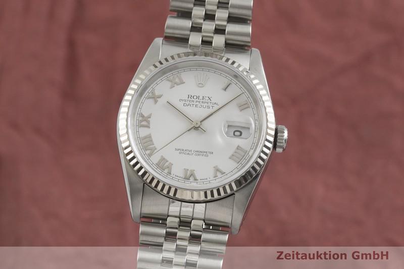 gebrauchte Luxusuhr Rolex Datejust Stahl / Weissgold Automatik Kal. 3135 Ref. 16234  | 2001777 _0
