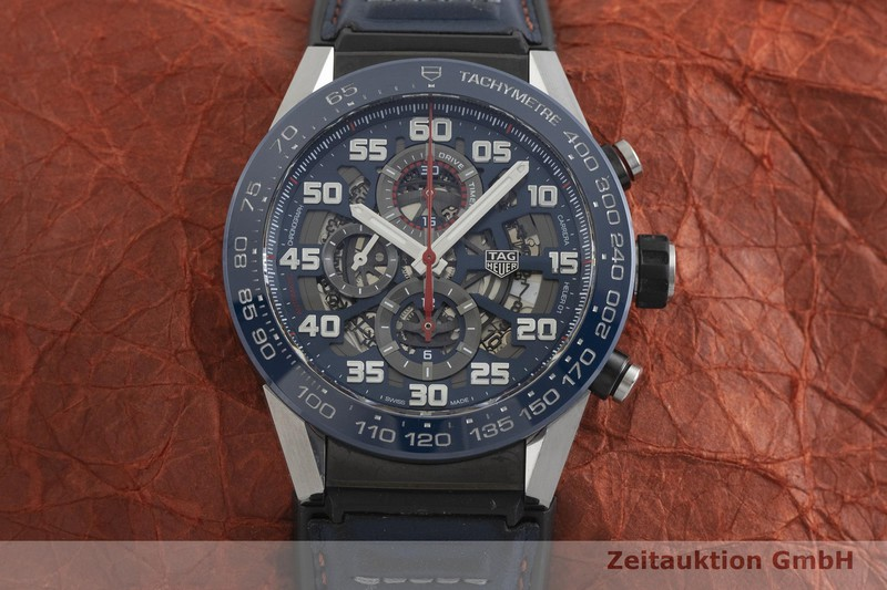 gebrauchte Luxusuhr Tag Heuer Carrera Chronograph Keramik / Stahl Automatik Kal. 01 Ref. CAR2A1N  | 2001791 _1