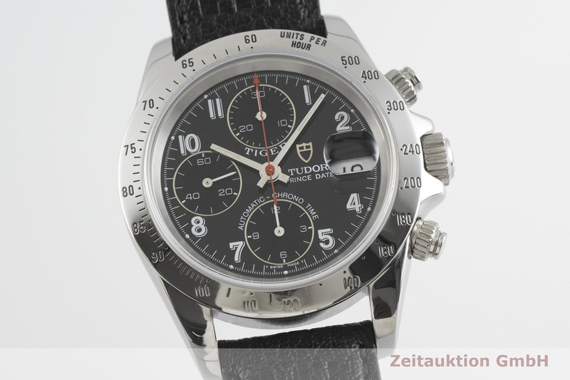 gebrauchte Luxusuhr Tudor Prince Date Chronograph Stahl Automatik Kal. ETA 7750 Ref. 79280P    2001792 _0