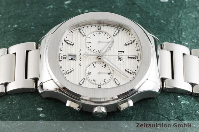 gebrauchte Luxusuhr Piaget Polo Chronograph Stahl Automatik Kal. 1160P Ref. P11269  | 2001837 _0