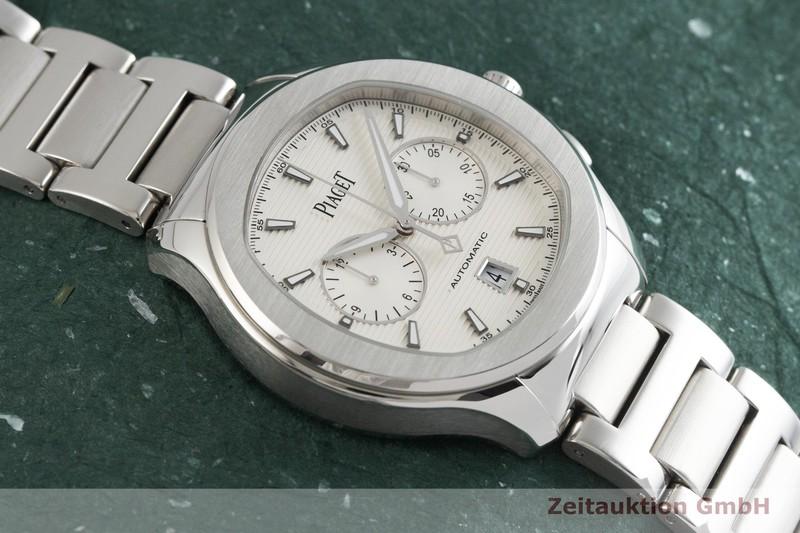 gebrauchte Luxusuhr Piaget Polo Chronograph Stahl Automatik Kal. 1160P Ref. P11269  | 2001837 _1