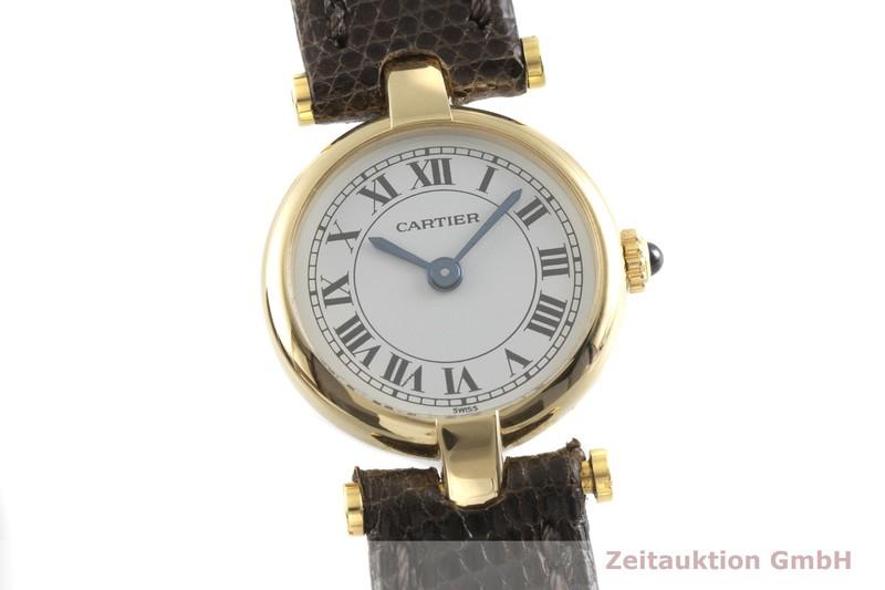 gebrauchte Luxusuhr Cartier * 18k Gold Quarz Kal. 157  | 2001896 _0