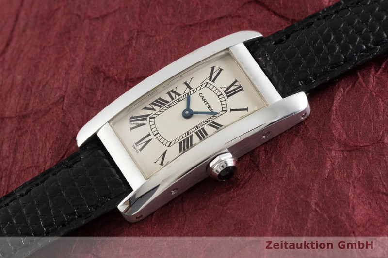 gebrauchte Luxusuhr Cartier Tank Américaine 18k Weissgold Quarz Kal. 157 Ref. 1713    2001902 _0
