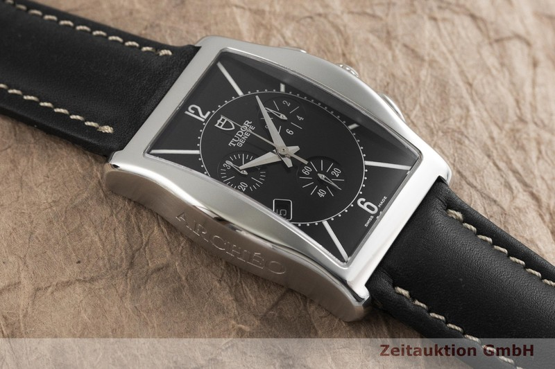 gebrauchte Luxusuhr Tudor Archeo Chronograph Stahl Quarz Kal. ETA 251.471 Ref. 43300    2001904 _1