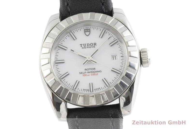 gebrauchte Luxusuhr Tudor Classic Date Stahl Automatik Kal. ETA 2671 Ref. 22010  | 2001905 _0
