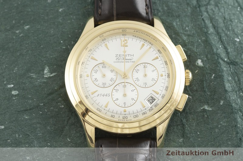 gebrauchte Luxusuhr Zenith El Primero Chronograph 18k Gold Automatik Kal. 400 Ref. 30.1250.400 LIMITED EDITION | 2001930 _1