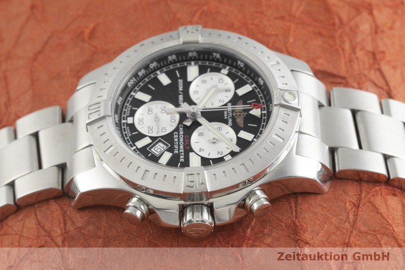 gebrauchte Luxusuhr Breitling Colt Chronograph  Chronograph Stahl Quarz Kal. B73 Ref. A73388  | 2001981 _0