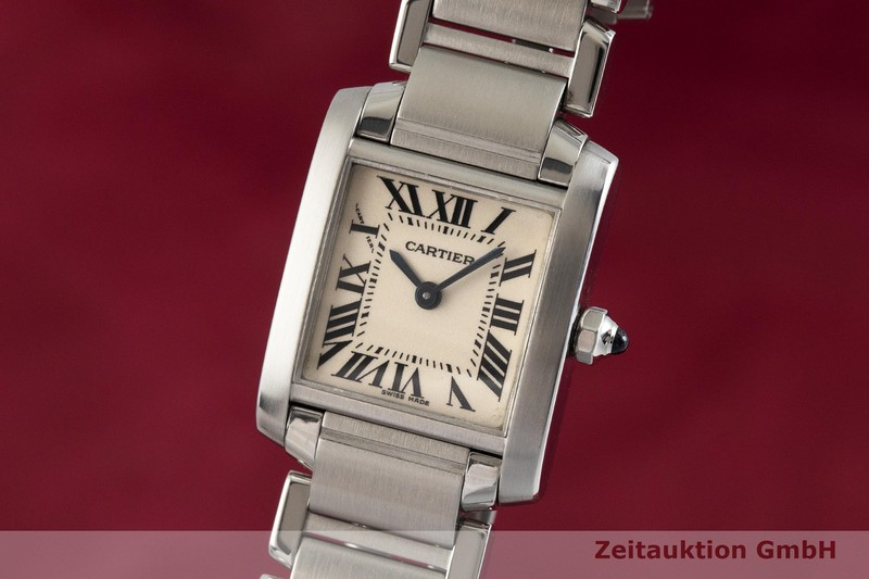 gebrauchte Luxusuhr Cartier Tank Francaise Stahl Quarz Kal. 057 Ref. 2384  | 2001985 _0