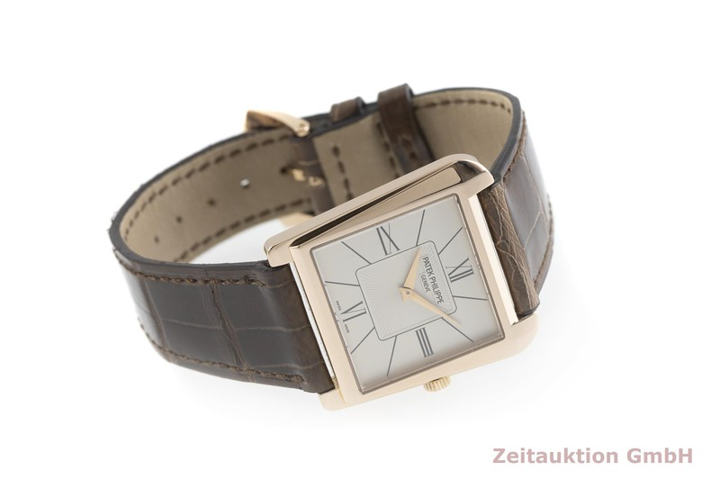 gebrauchte Luxusuhr Patek Philippe Gondolo 18k Rotgold Handaufzug Kal. 215 Ref. 5489R-001  | 2001989 _0