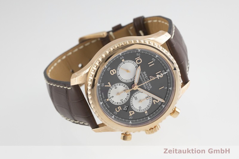 gebrauchte Luxusuhr Breitling Navitimer Chronograph 18k Rotgold Automatik Kal. B01 Ref. RB0117  | 2001995 _0