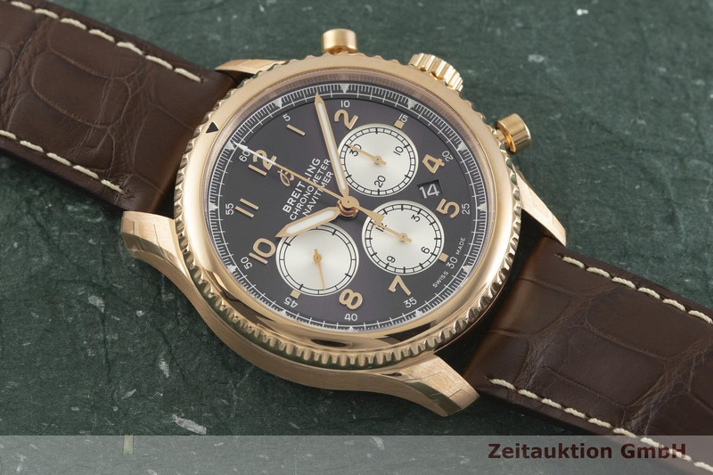gebrauchte Luxusuhr Breitling Navitimer Chronograph 18k Rotgold Automatik Kal. B01 Ref. RB0117  | 2001995 _1
