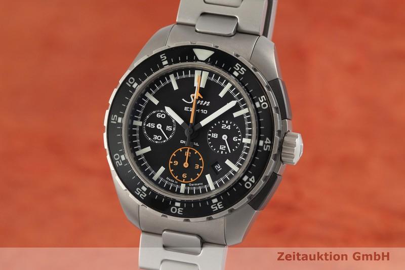 gebrauchte Luxusuhr Sinn EZM 10 Chronograph Titan Automatik Kal. SZ01, ETA 7750 Ref. 950.010    2001998 _0