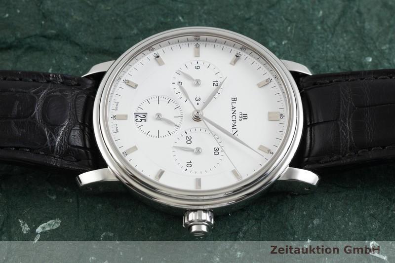 gebrauchte Luxusuhr Blancpain Villeret Chronograph Stahl Automatik Kal. M185  | 2002022 _0