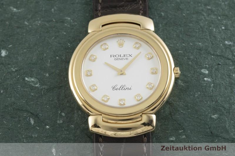 gebrauchte Luxusuhr Rolex Cellini 18k Gold Quarz Kal. 6620 Ref. 6622    2002043 _1