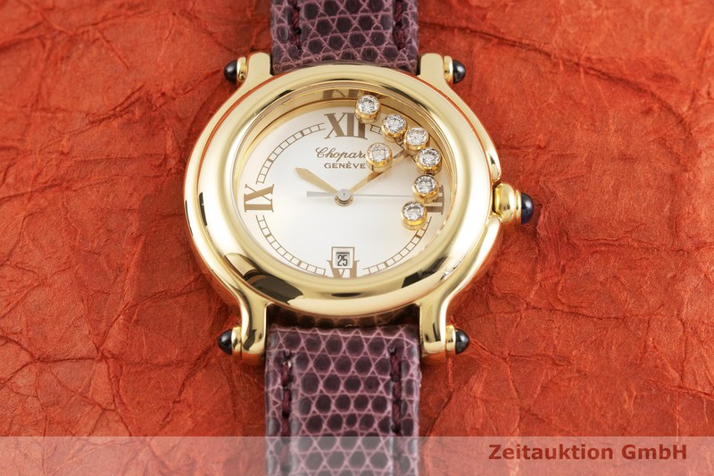 gebrauchte Luxusuhr Chopard Happy Sport 18k Gold Quarz Kal. ETA 956.112 Ref. 27/6144-23  | 2002065 _1