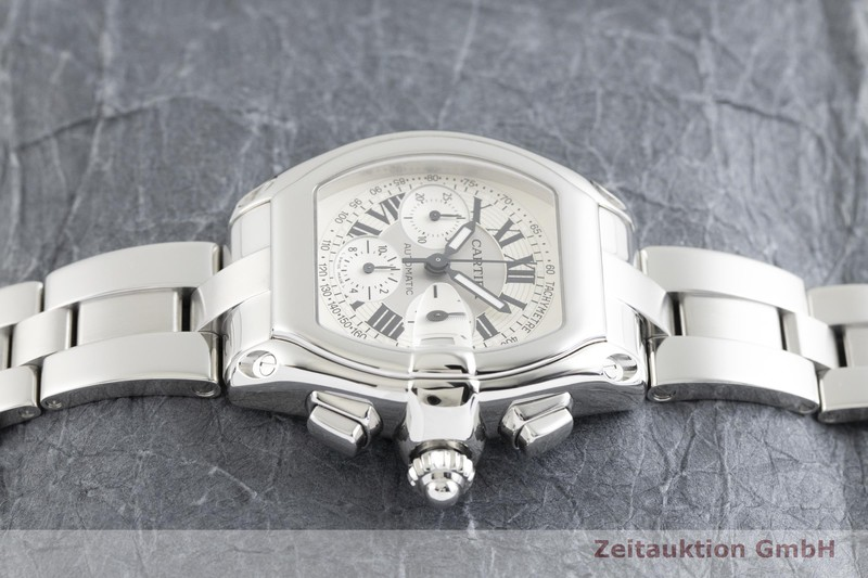 gebrauchte Luxusuhr Cartier Roadster Chronograph Stahl Automatik Ref. 2618  | 2002089 _0