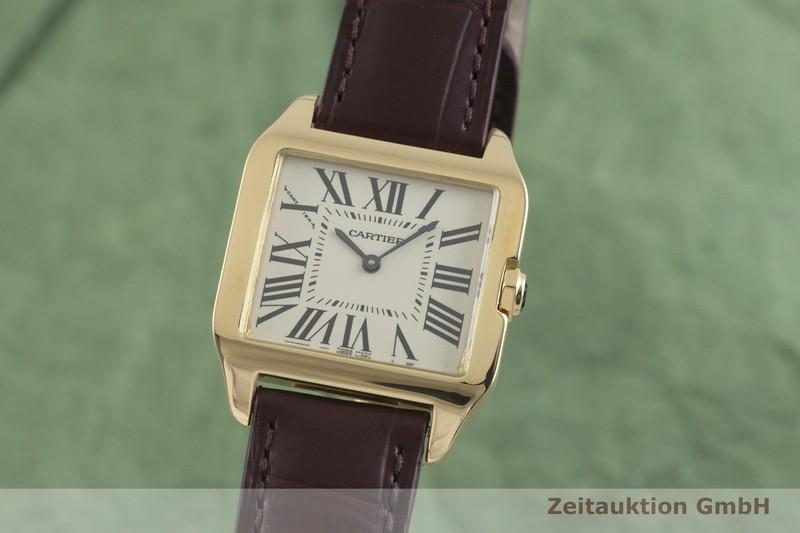gebrauchte Luxusuhr Cartier Santos Dumont 18k Gold Quarz Kal. 690 Ref. 2787  | 2002091 _0