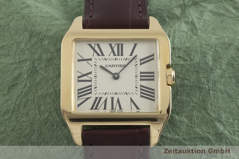 gebrauchte Luxusuhr Cartier Santos Dumont 18k Gold Quarz Kal. 690 Ref. 2787  | 2002091 _1