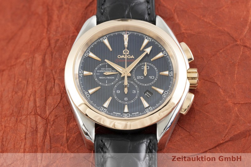 gebrauchte Luxusuhr Omega Seamaster Chronograph Stahl / Gold Automatik Kal. 3313 Ref. 178.1136  | 2002103 _1