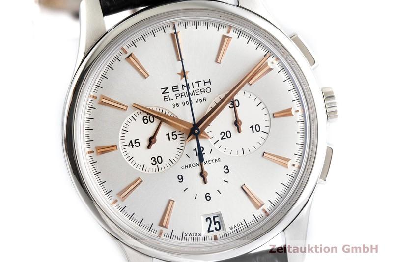 gebrauchte Luxusuhr Zenith El Primero Chronograph Stahl Automatik Kal. 400 Ref. 03.2110.400  | 2002107 _0
