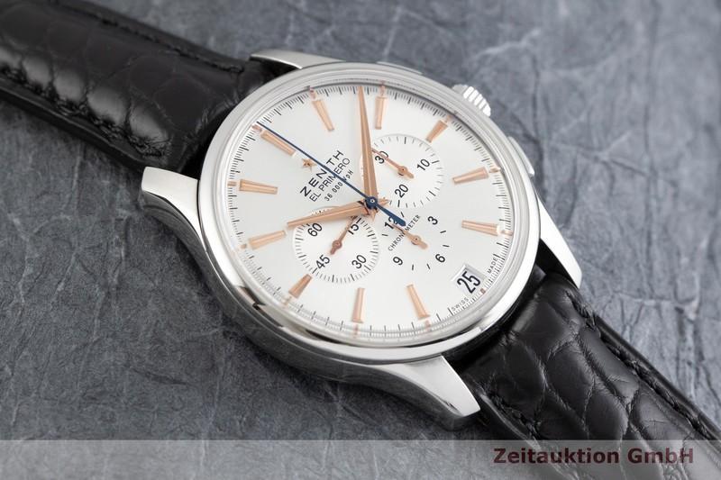 gebrauchte Luxusuhr Zenith El Primero Chronograph Stahl Automatik Kal. 400 Ref. 03.2110.400  | 2002107 _1