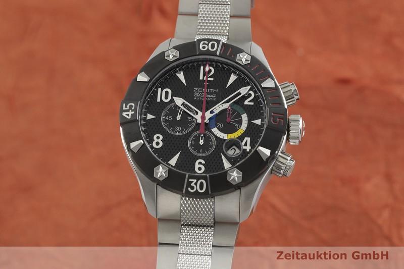 gebrauchte Luxusuhr Zenith El Primero Chronograph Stahl Automatik Kal. 4000 SC Ref. 03.0526.4000  | 2002109 _0