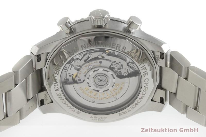 gebrauchte Luxusuhr Breitling Navitimer Chronograph Stahl Automatik Kal. B01 Ref. AB0117  | 2002124 _0