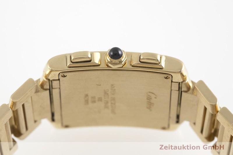 gebrauchte Luxusuhr Cartier Tank Francaise Chronograph 18k Gold Quarz Kal. 212P Ref. 1830  | 2002142 _0