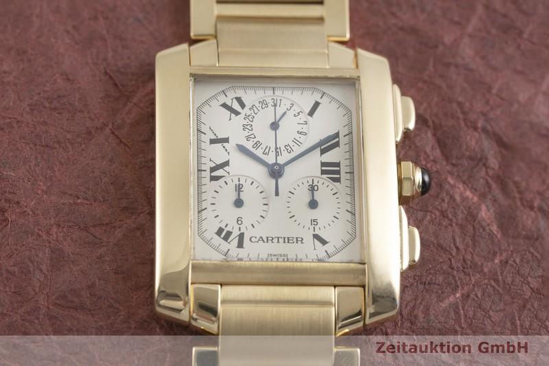 gebrauchte Luxusuhr Cartier Tank Francaise Chronograph 18k Gold Quarz Kal. 212P Ref. 1830  | 2002142 _1