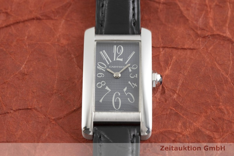 gebrauchte Luxusuhr Cartier Tank Américaine 18k Weissgold Quarz Kal. 157 Ref. 1713  | 2002189 _1