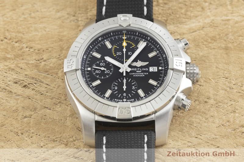 gebrauchte Luxusuhr Breitling Avenger Chronograph Stahl Automatik Kal. Sellita SW500 Ref. A13317  | 2002212 _1